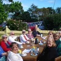 Around the table-Lynn, Meg, Heather, Graham, Denise, Eldred, Enid, Rita, Lola, Chris, Cheryl and Marg.